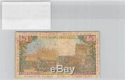 Billet Antilles Francaises 5 Francs Tres Rare