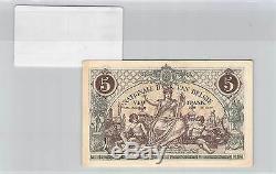 Billet Belgique 5 F Francs 29.12.1918 Tres Rare Etat De Conservation