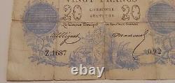 Billet de 20frs Chazal du 11 mars 1873 année Rare. BEAU BILLET très belle état