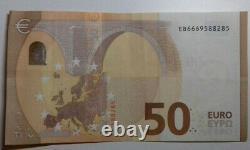 Billet de 50 euros HYPER RARE N° DE SÉRIE A TROIS CHIFFRES 666. Très bon état