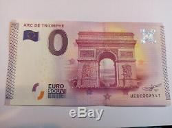 Billet touristique zero euro, ARC DE TRIOMPHE, 2015, Neuf, très rare