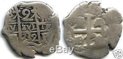 Bolivie Philippe V 2 Reales 1732 Potosi Tres Rare