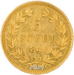 Bologna Pie IX 5 scudi 1846 très rare Splendide SPL