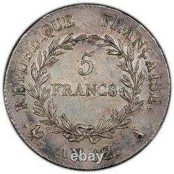 Bonaparte Premier Consul 5 Francs AN 12 Paris Splendide très rare Qualité
