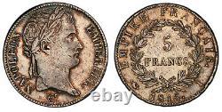Cent-Jours 5 Francs Napoléon Empereur 1815 Limoges Très bel exemplaire rare