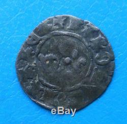 Charles VII TRES RARE denier tournois 3ème type, La Rochelle ou Limoges Dy 491