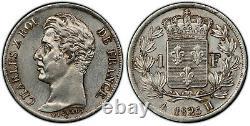 Charles X 1 Franc 1825 La Rochelle Superbe très rare