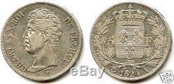 Charles X 5 Francs Argent 1824 A Paris Tres Rare