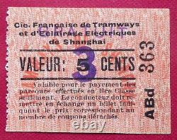 Chine 3 Cents Surchargé Sur Le 5 Cents Tres Rare