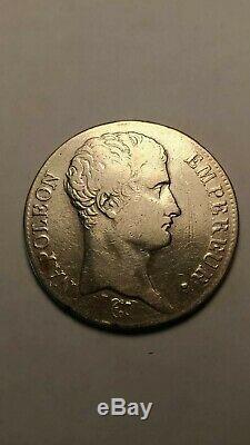 Cinq 5 francs Napoléon Ier Bonaparte An 13 L (Bayonne) TB+ TRÈS RARE