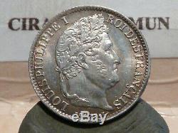 Cla(27) Louis Philippe I 1/2 Franc Argent 1843 W Tres Rare Qualite Sup