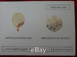 Coffret 1989 fleur de coin dont la 10 Franc Montesquieu triptique très rare