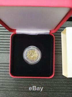 Coffret 2 Euro Princesse Grace Kelly Monaco 2007 LA VRAIE Complet TBE TRES RARE