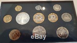 Coffret Be Monnaie De Paris 1995 Avec Certificat Tres Bel Etat Rare
