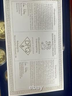 Coffret Belle Epreuve Be Finlande 2003 Medaille En Or Tres Rare 5000 Ex