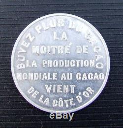 Côte d'ivoire Très Rare Médaille Alu sur le Chocolat 1925 Voir Descriptif