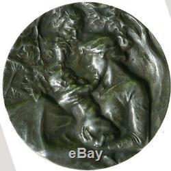 DERNIER PRIX Très rare médaille de Victor Prouvé en argent