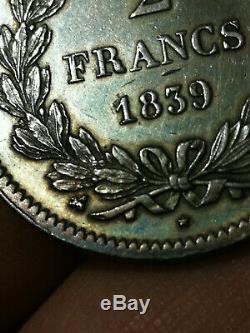 EXCEPTIONNEL! Louis Philippe 1er 2 Francs 1839 B Rouen TRES RARE