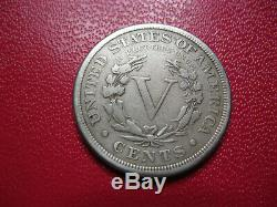 Etats Unis. U. S. A. Très très rare 5 cents 1885. Nickel. Tête de la liberté