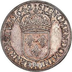 Exceptionnel Louis XIII Ecu 60 sols 1642 A Paris premier poinçon très rare FDC