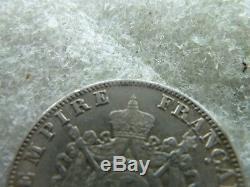 Extraordinaire 2 francs en argent Napoleon 3 1867 A très rare qualité