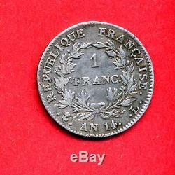 (F. 43) UN FRANC NAPOLEON PREMIER AN 14 L (TRÈS RARE) 4101 ex. (TTB-)