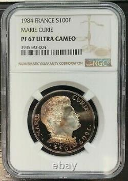 FRANCE 100 FRANCS BE Marie Curie NGC PF67 ULTRA CAMEO TRES RARE