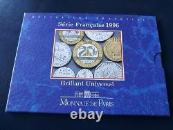 FRANCE 1996 coffret BU 10 monnaies de la 1 centime a 20 francs TRES RARE