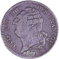 FRANCE Louis XVI Écu 6 livres au bonnet inversé 1792 A Très rare