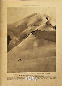 FRANCE/SUISSE-AERONAUTIQUE-1921- Ier ATTERRISSAGE AU MONT BLANC TRES RARE