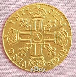 FRANCE Très rare monnaie Louis XIV 1679 Paris or gold la seule sur eBay