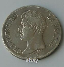 FRANCE monnaie royale très rare écu de 5 francs. 1825 A. V à l'envers