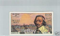 France 1000 Francs 5.9.1957 G. 335 N° 0835615116 Tres Rare