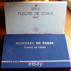France Coffret Fleurs De Coins 1987 Très Rare! Très Bel Exemplaire