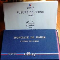 France Coffret Fleurs De Coins 1988 Très Rare! Magnifique Exemplaire