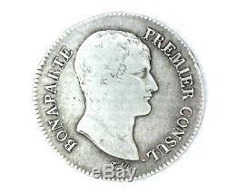 France Consulat Bonaparte 5 Francs An 12 B Rouen Très Rare 34557 Ex