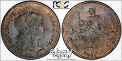 France Dupuis Très rare 5 centimes 1905 PCGS MS64