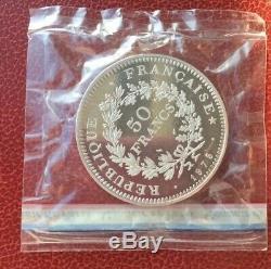 France Très Rare PIEFORT du 50 Francs 1975 en Argent