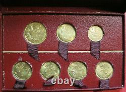 France. Très rare coffret essais 1950 10, 20, 50 Francs (7 pièces). FDC