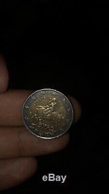 GRECE 2002 pièce 2 euros TRÈS RARE. Frappée en Finlande