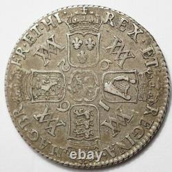Grande-bretagne Tres Rare Shilling Argent 1692 Avec A/r Dans Gratia
