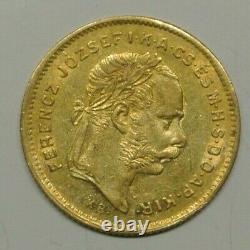 HONGRIE RARE 10 FR /4 FRT OR /GOLD 1870 SUP état trés rare