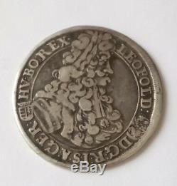 Hongrie / hungary très rare 1/2 thaler leopold I. 1703 KB. En argent