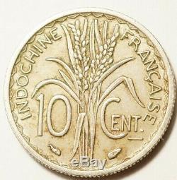 Indochine Tres Rare 10 Cent. 1939. Non Magnetique