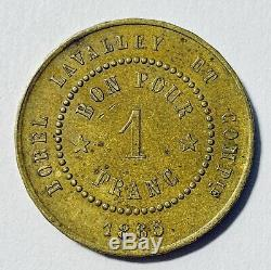 Jeton CANAL DE SUEZ 1 Franc Borel Lavalley et Compagnie 1865 Très Rare (N2500)