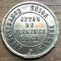 Jeton Franc Maçon Lindustrie De Lor De St Étienne (557) Tres Rare