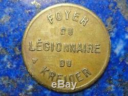 Jetons des colonies 1 Franc Le Kreider (Algérie) Foyer du légionnaire Très rare