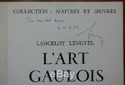 L. LENGYEL. TRÈS RARE GRAND FOLIO. Dédicace autographe de l'auteur