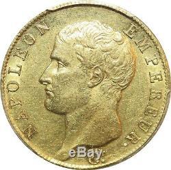 L4238 TRES RARE 40 Francs Or Gold Napoléon an 13 A PCGS AU55! -Faire offre