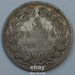 LOUIS PHILIPPE I 5 Francs 1831 M tête laurée tranche En Creux TRÈS RARE 56637 Ex